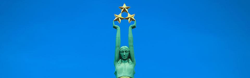 Riga statue